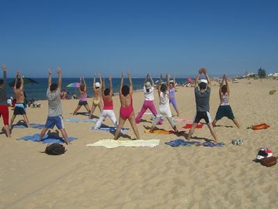 Aula do Yoga Sámkhya na Praia - Verão 2012