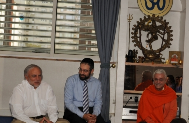 Visit of. José Carp – President of the Jewish Comunity of Lisboa and Rabbi Eliezer Di Martino - at the Headquarters of the Portuguese Yoga Confederation, Lisboa - 2013