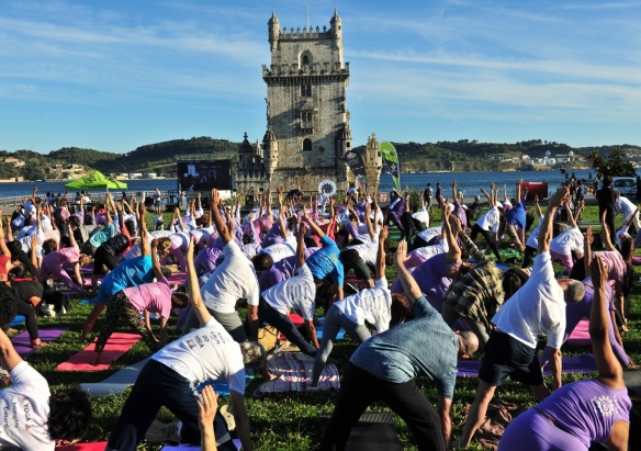 Celebration of the International Day of Yoga - IDY - 2019, June, 21st - Belém, Portugal