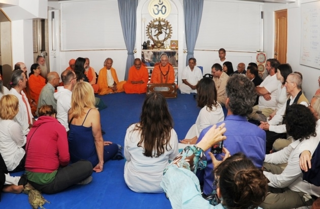 Reception of the Invited Masters to the International Day of Yoga