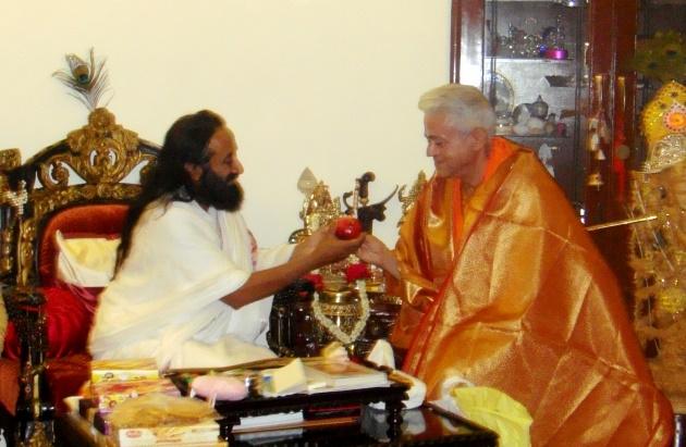 Encontro com Shrí Shrí Ravi Shankar - Sede da Art of Living Foundation, Bengaluru, Índia - 2010, Janeiro