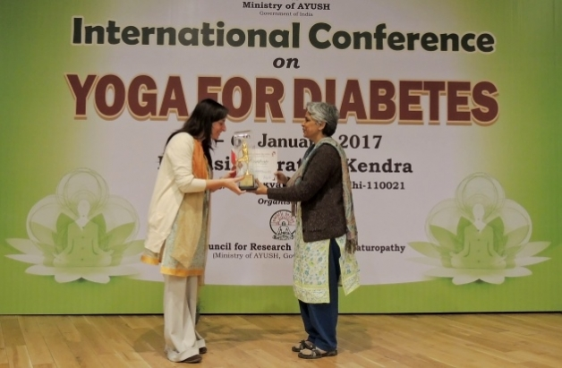 International Conference on Yoga and Diabetes - India, Dillī - 2017, janvier Central Council for Research in Yoga & Naturopathy