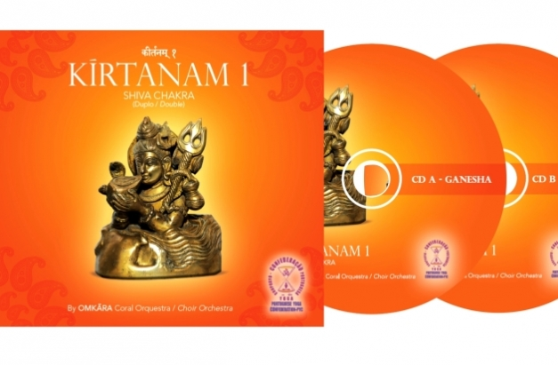 CD Duplo de Kírtanam pelo Omkára Coral Orquestra da Confederação Portuguesa do Yoga