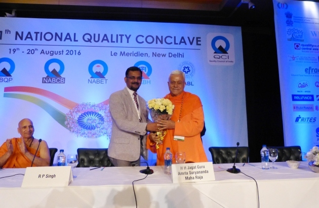 Quality Council of India - 11th National Quality Conclave 2016: 'Improving Quality for our 1.2 Billion Citizens' - New Dillí, India - 2016, agosto