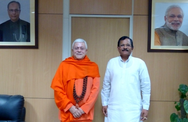 Meeting with H.E the Minister of Yoga of India - India - 2016, May