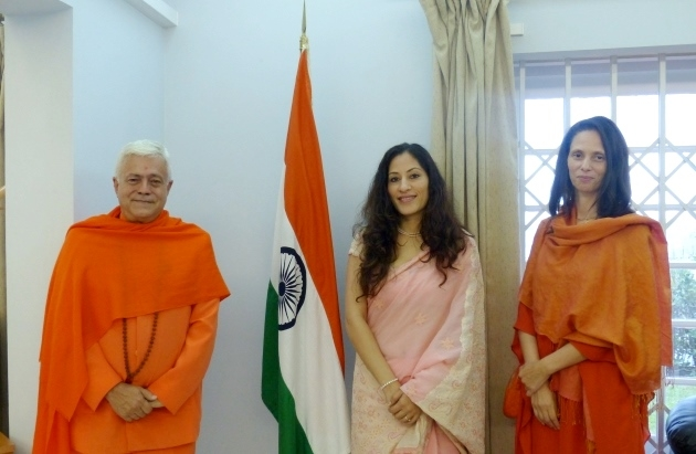 Visit of H.H. Jagat Guru Amrta Súryánanda Mahá Rája at the Embassy of India
