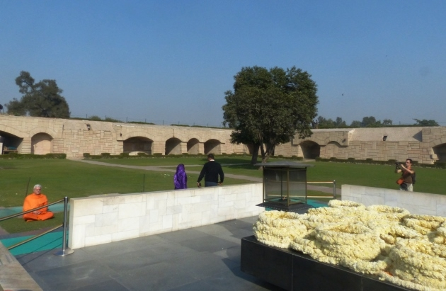 Homenagem a Mahátma Gandhi - Raj Ghat, New Dillí - 2013