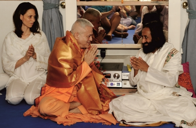 Visit of Shrí Shrí Ravi Shankar at the Headquarters of the Portuguese Yoga Confederation - Lisboa - 2012, June