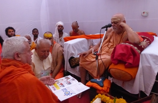 Meeting with H.H Jagadguru Svámin Nischalánanda Sarasvatí - Shankaracharya of Puri Kumbha Mela, Ujjain, India - 2016