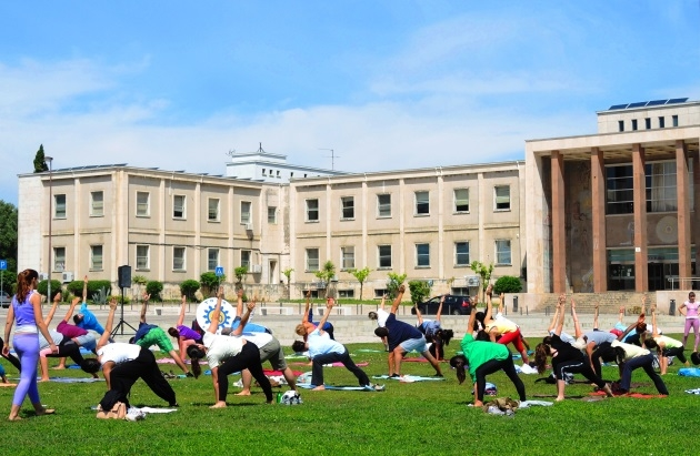 Yoga and stress-free Exams 2015