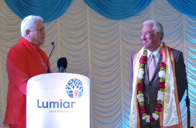 Visit of the Prime Minister Dr. António Costa to the Hindu Community of Portugal - 2017, May, 16th