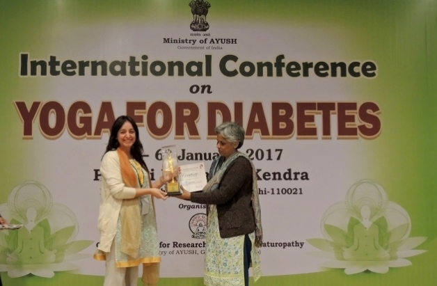 International Conference on Yoga and Diabetes - Inde, Dillí - 2017, janvier - Central Council for Research in Yoga & Naturopathy