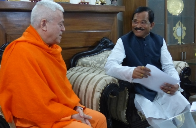 Meeting with H.E the Minister of Yoga of India - India - 2015, March