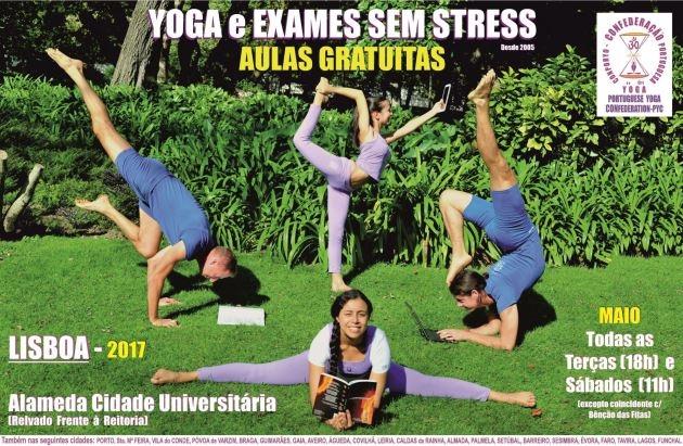 Yoga e Exames sem stress 2017