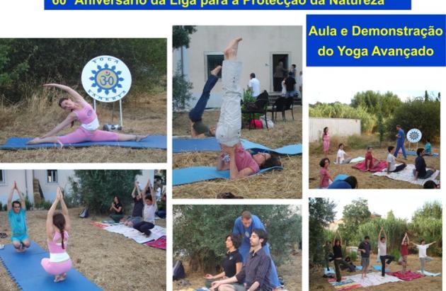 Yoga no Aniversário da Liga de Protecção da Natureza