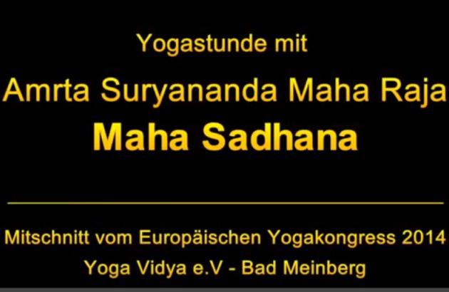 Mahá Sádhaná ministrado pelo Guru Jí durante o 1º Congresso Europeu do Yoga Horn - Bad-Meinberg, Alemanha - 2014, Novembro
