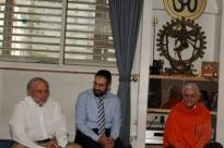 Visita de José Carp – Presidente de la Comunidad Judía de Lisboa y de Rabino Eliezer Di Martino