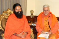Meeting with Baba Ramdev, Patañjali Yogapeeth, Haridvar, India - 2010, January