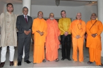Reception of the Great Yoga Masters of India at the Embassy of Portugal