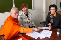 Meeting with the Board of Direction of the Classical Yoga Federation of Russia - Moscow, Russia - 2013, April