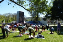 Yoga Sámkhya class at the event 'Há Festa no Parque' organized by the City Hall of Lisbon