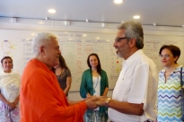 Visita de Bawa Jain - Secretário Geral do World Council of Religious Leaders -