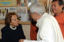 Visita da Dr.ª Maria Barroso na Sede Nacional da Confederação Portuguesa do Yoga, Lisboa - 2010