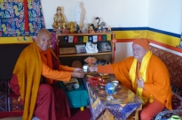 Encontro com H.H. Venerável Bhikkhu Sanghasena, Mahabodhi International Meditation Centre,