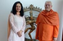 Reunião com S.E. a Embaixadora da Índia na UNESCO, Ms. Ruchira Kamboj – Paris – 2015, Maio, 13