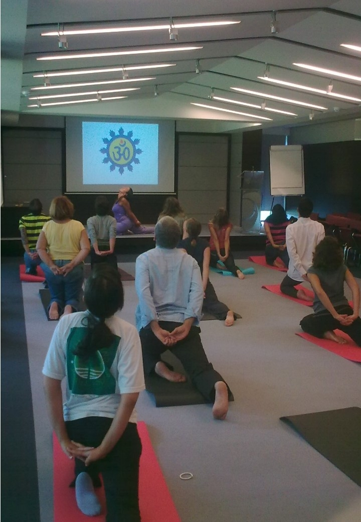 Aula do Yoga na EFACEC