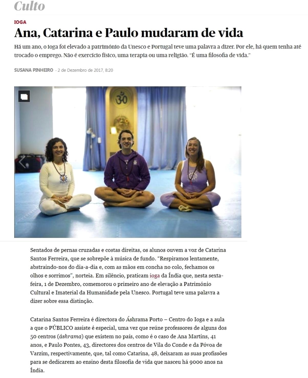 Ana, Catarina e Paulo mudaram de Vida - Público - 2017, Dezembro, 2 - pág.1