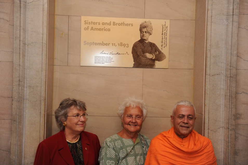 At the 1st Parliament of hte World's Religions where Sv. Vivekánanda spoke in 1893, September, 11th - Chigaco, United States - 2012, September