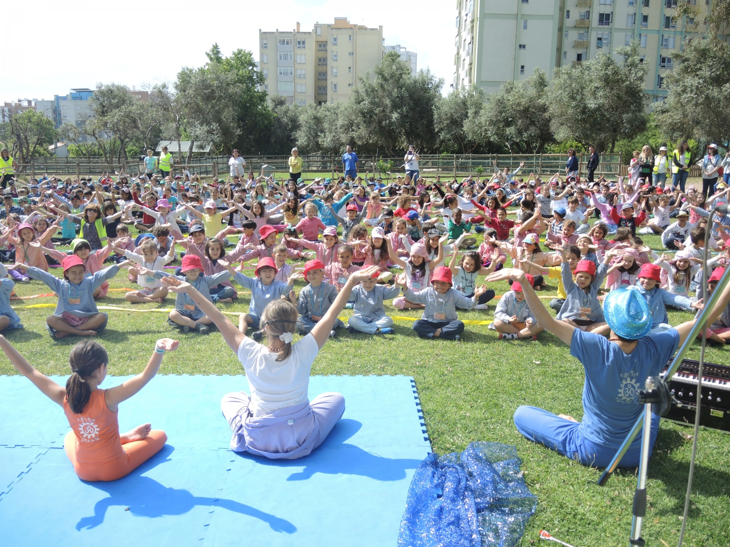 Yoga Class given on the occasion of the Commemorations of the World's Children Day in 2015