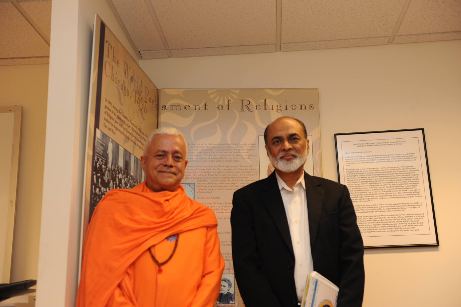 Com Imam Abdul Malik Mujahid, Presidente do Parliament of the World's Religions