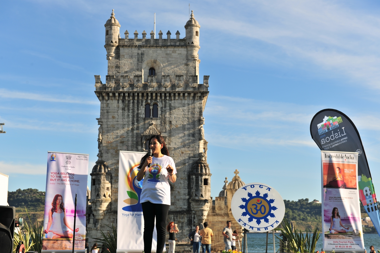 IDY - 2019, June, 21st - Belém - H.E. the Ambassador of India to Portugal Srhímati. K. Nandini Singla
