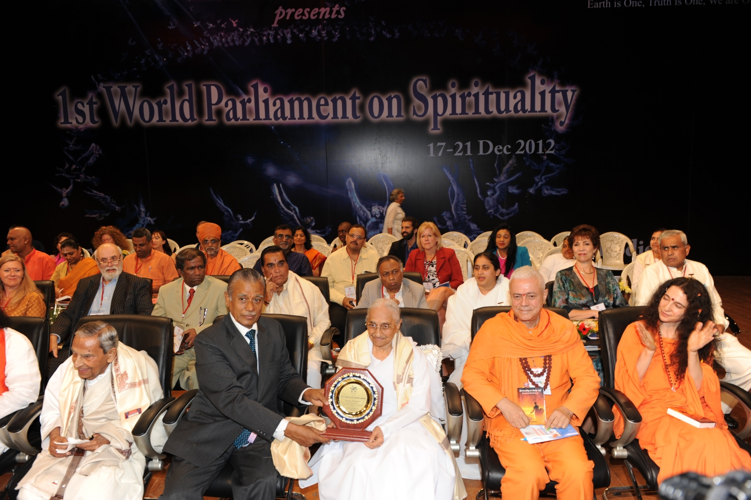 First World Parliament on Spirituality - India, Hyderabad - 2012, December
