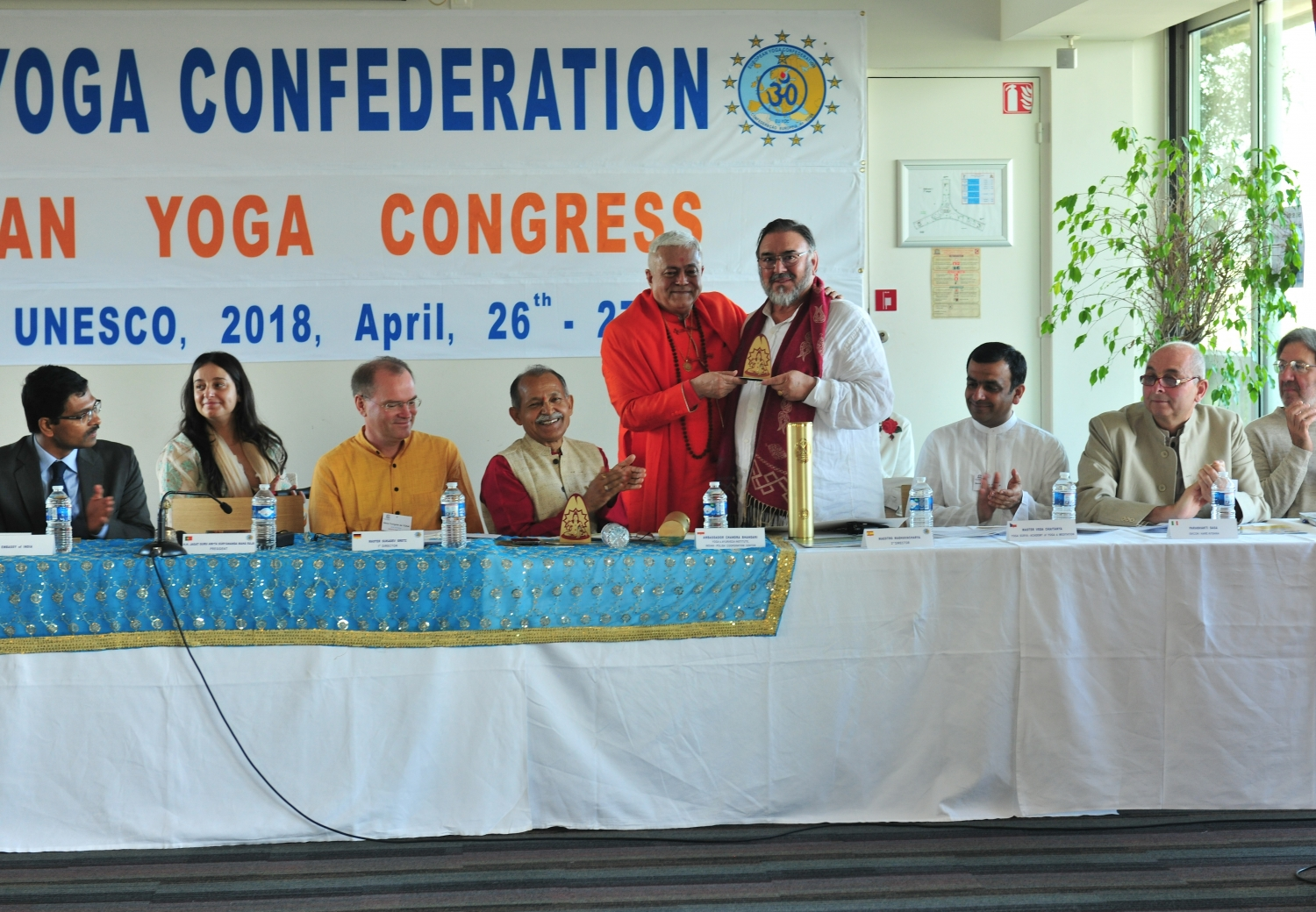 Attribution of the Title of Grand International Yoga Master and Keilasha award to Maestro Madhavacharya - 2018, May