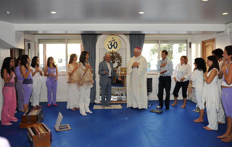 Bênção da Sede Nacional da Confederação Portuguesa do Yoga por Dom Carlos Azevedo, Bispo Auxiliar de Lisboa – 2010