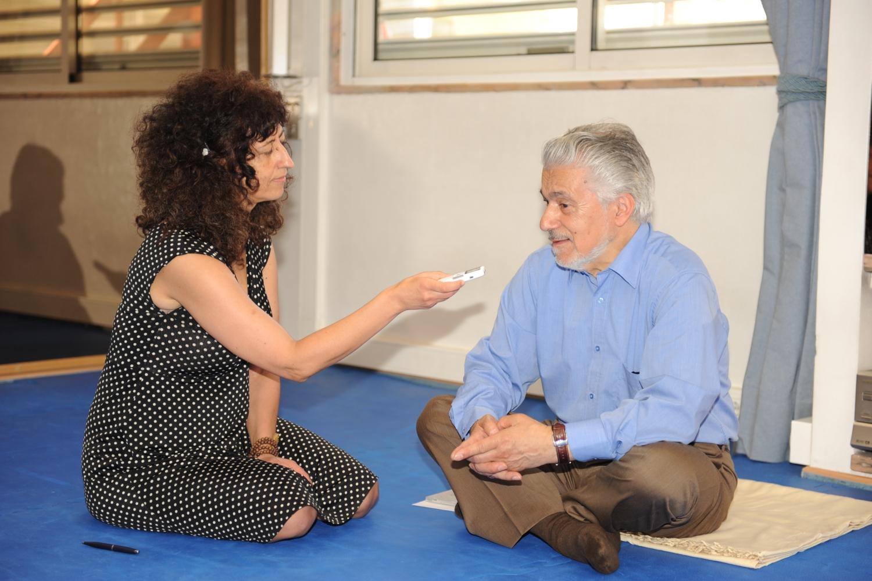 Visita do Prof. António Pedro na Sede da Confederação Portuguesa do Yoga, Lisboa – 2012