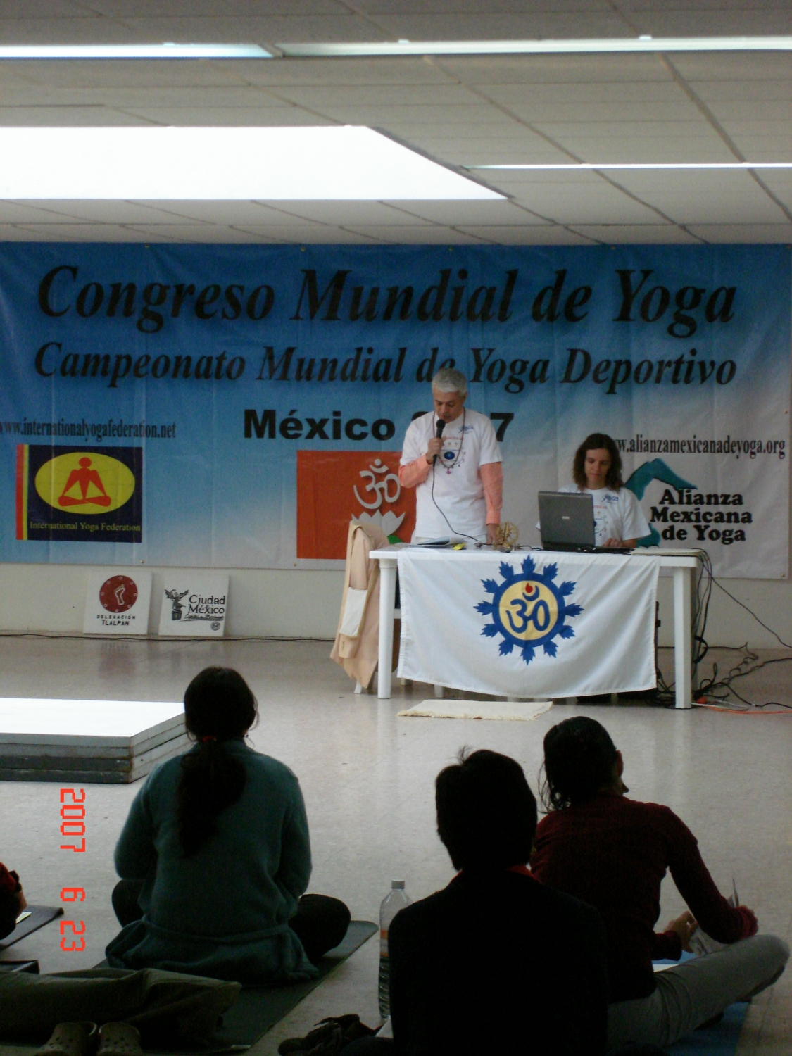 Speech by H.H. Jagat Guru Amrta Súryánanda Mahá Rája - International Yoga Gr. Master, at the Congreso Mundial de Yoga, Ciudad de México – 2007