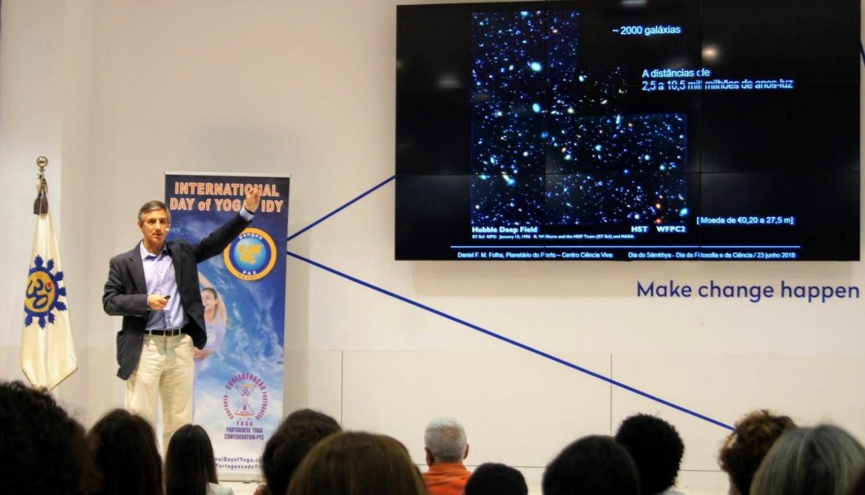 Professor Doutor Daniel Folha - Director Executivo do Planetário do Porto - Centro de Ciência Viva, 'Astrobiologia : o Contexto cósmico da Vida'