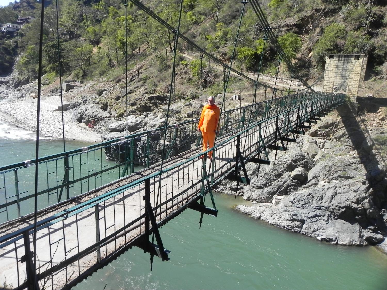 Rudra Prayág - onde os rios Alaknanda e Mandakini se encontram, seguindo como Alaknanda para Deva Prayág