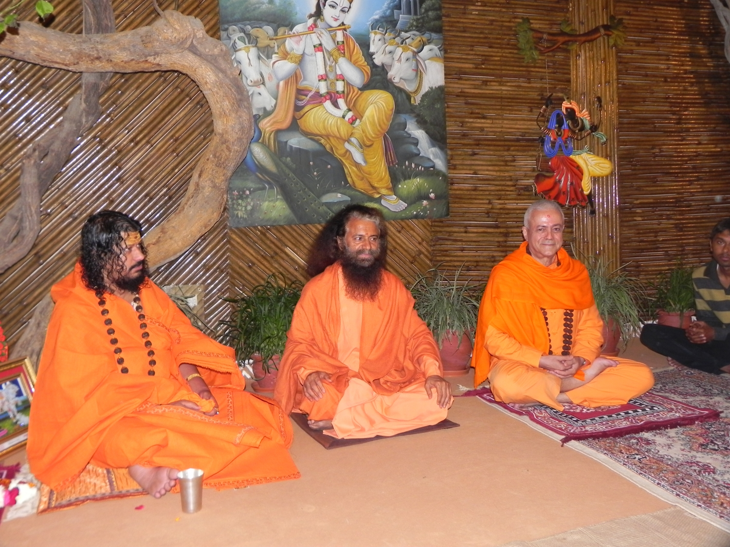 Meeting of H.H. Jagat Guru Amrta Sūryānanda Mahā Rāja with H.H. Pujya Svámin Chidanand Sarasvatiji Maharaj, visit to the Parmarth Niketan Áshrama, rshikesh, India - 2013, March
