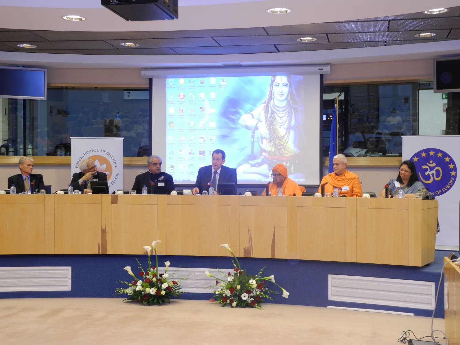 Hindu Forum of Europe -  European Parliament in Brussels, Belgium - 2012, March