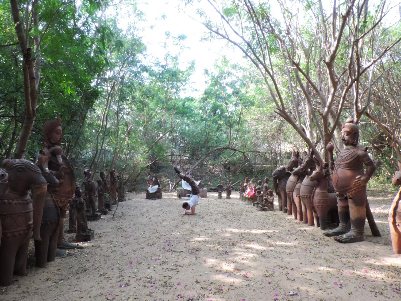 Visite à Kalakshetra, Inde - 2014, janvier