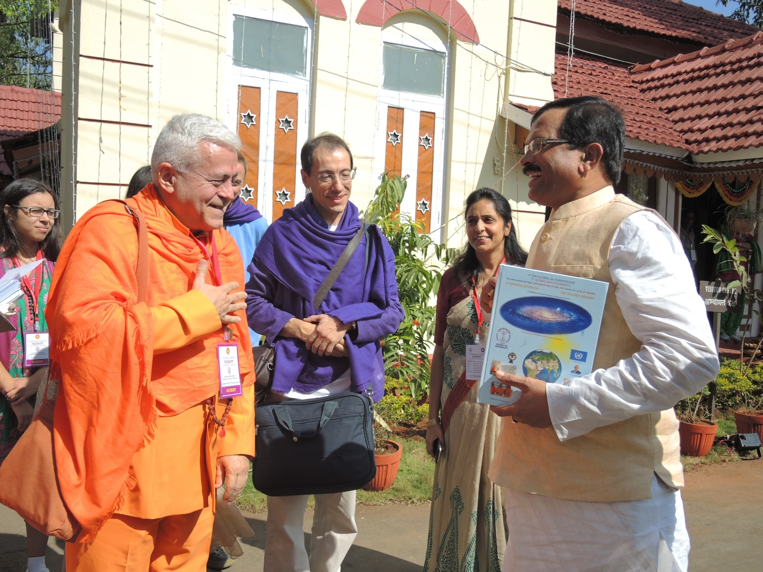 With Yoga Minister, Shrí Shripad Yesso Naik