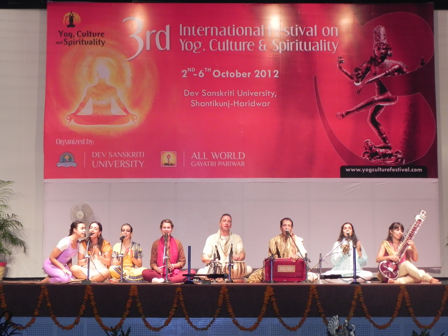 3rd International Festival on Yoga, Culture and Spirituality - Shāntikunj Āshrama, Haridvar, Inde - 2012, octobre, 2 à 6