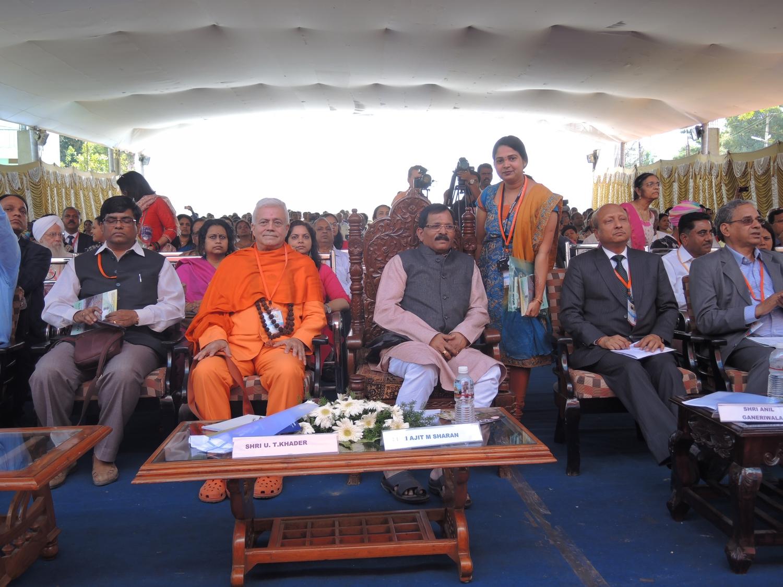 H.H. Jagat Guru Amrta Súryánanda Mahá Rája and Shrí Shripad Yesso Naik - minister of Yoga