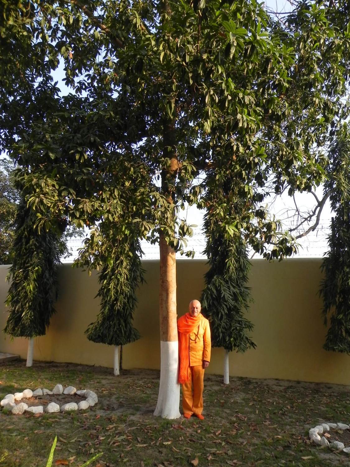 Meeting of H.H. Jagat Guru Amrta Sūryānanda Mahā Rāja with Svámin Súryaprakash and Svámin Niranjanánanda - Bihar School of Yoga, Munger, India – 2011