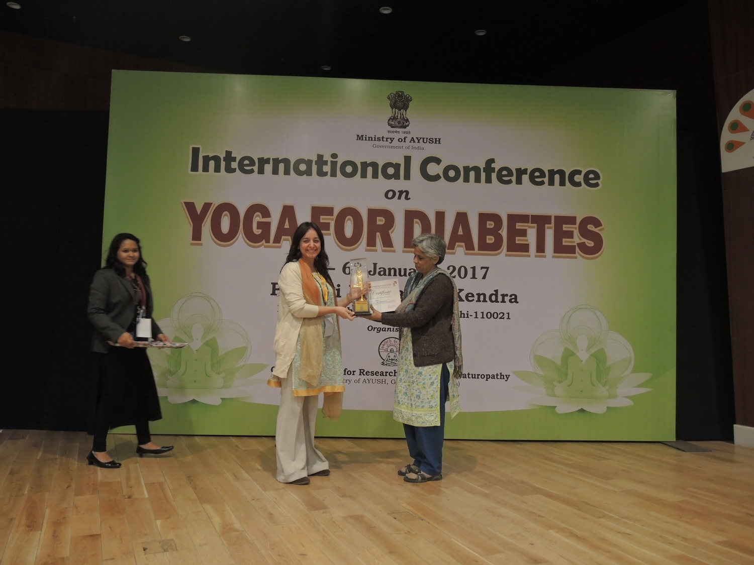 International Conference on Yoga and Diabetes - India, Dillí - 2017, January - Central Council for Research in Yoga & Naturopathy